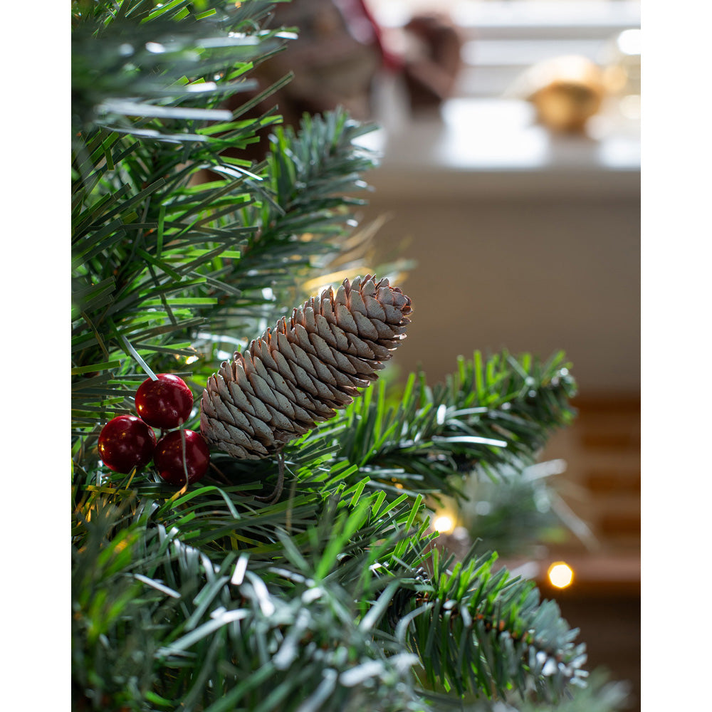 Pre-Lit Scandinavian Spruce Pine Cone and Berry Christmas Tree