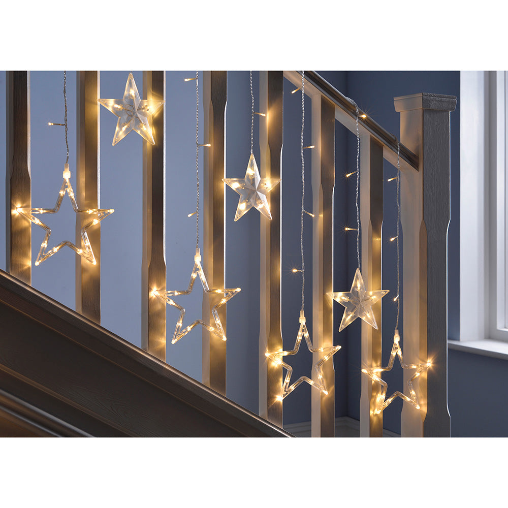 Star Flashing Chasing Window Curtain Net Lights with 168 LED