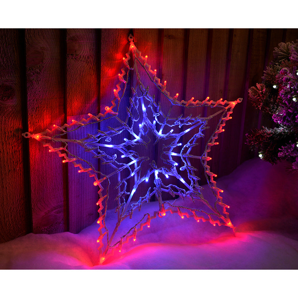 100-LED Star Silhouette with Chasing and Static Settings