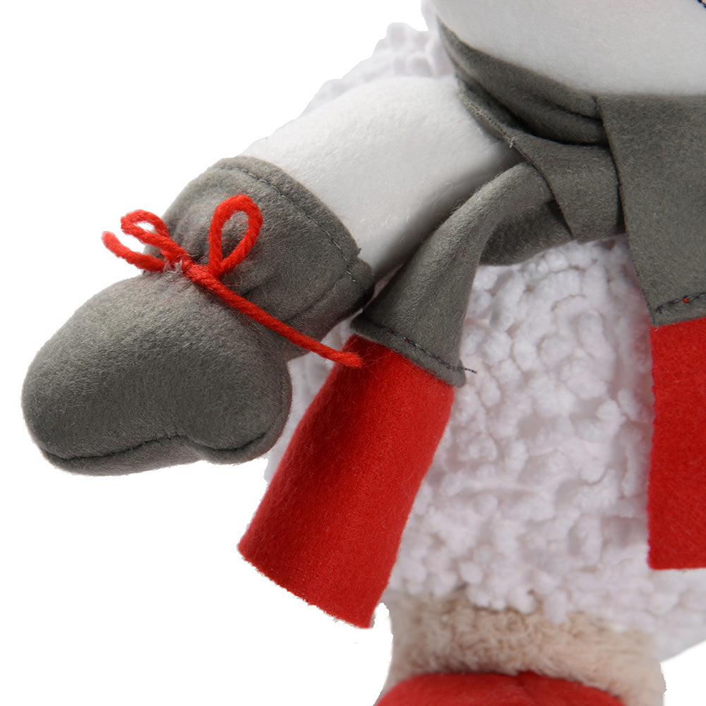Sitting Snowman Christmas Decoration, 30 cm