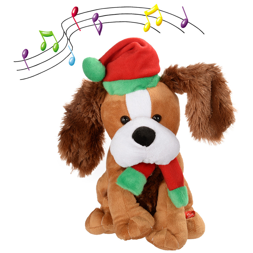 30 cm Standing and Singing Dog with Flapping Ears Christmas Decoration