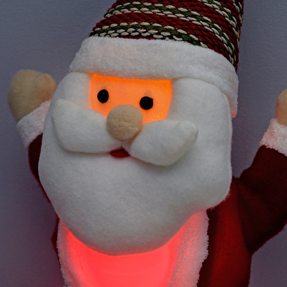 Santa with 8 Musical Songs and Snowing Snowflake Inside Colour LED Body, 35 cm - Large