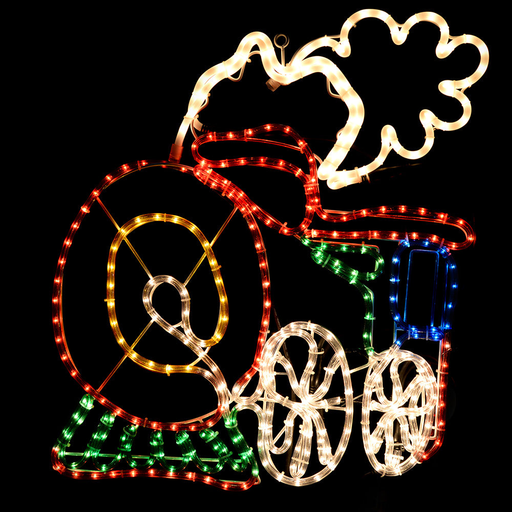Animated Train Rope Lights Silhouette Decoration, 64 cm - Large