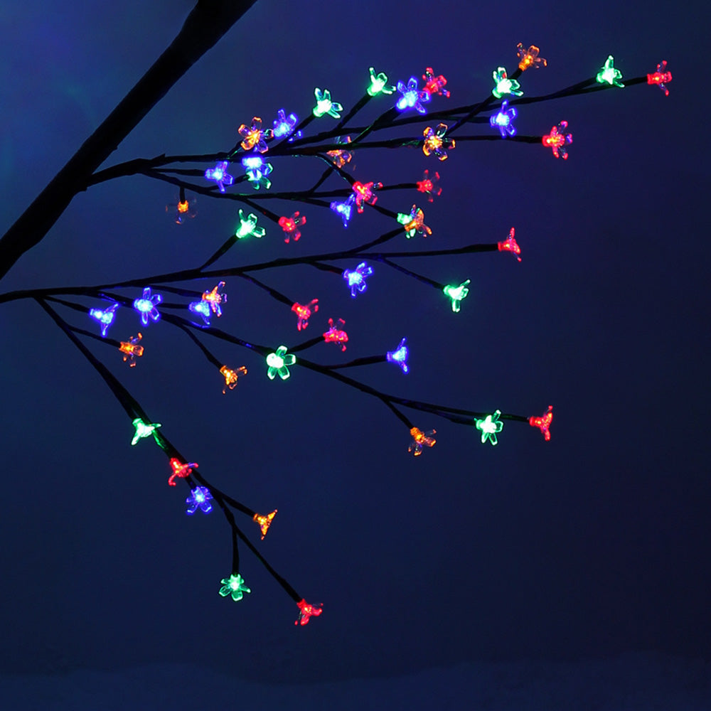 240 LED Pre-Lit Illuminated Cherry Blossom Tree, Multi-Colour, 2 m / 6.6 ft