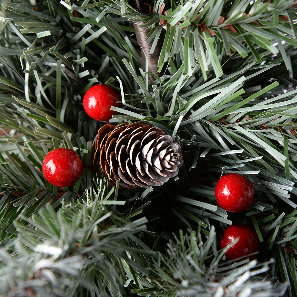 Scandinavian Blue Spruce Christmas Tree includes Pine Cones and Berries