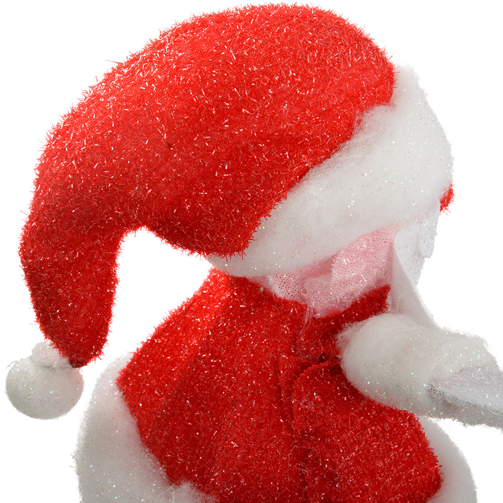 Pre-Lit Standing Santa with LED Lights Christmas Decoration, 33 cm