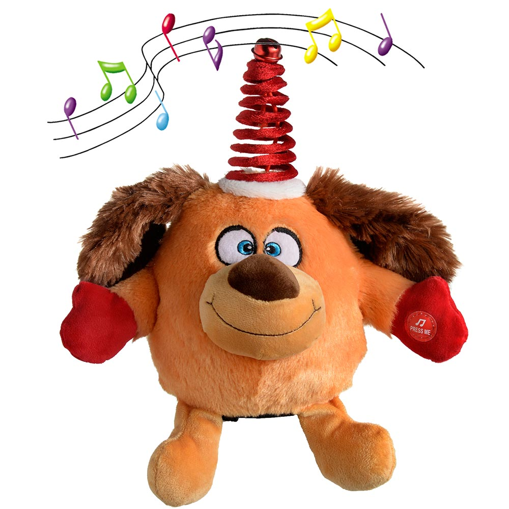 Novelty Spinning Dancing Musical Christmas Decoration, 24 cm - Multi-Colour