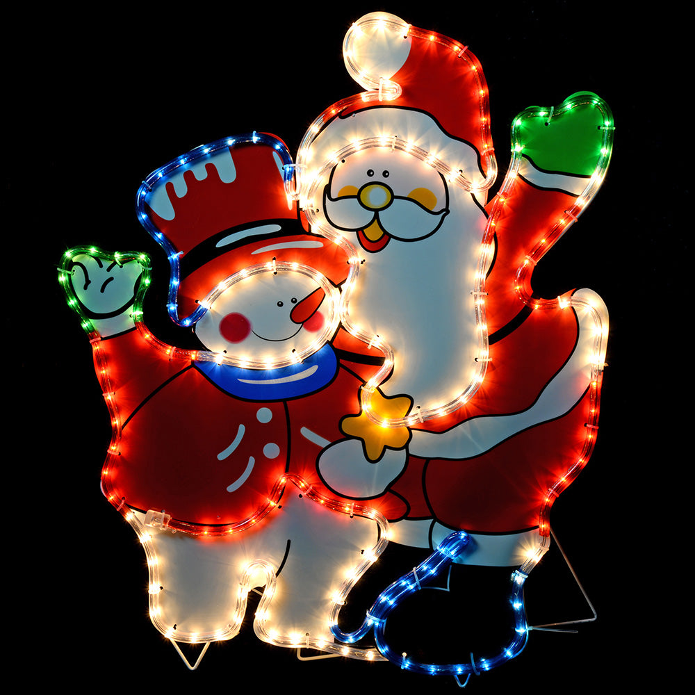 71 cm Large Santa and Snowman Rope Lights Silhouette Christmas Decoration
