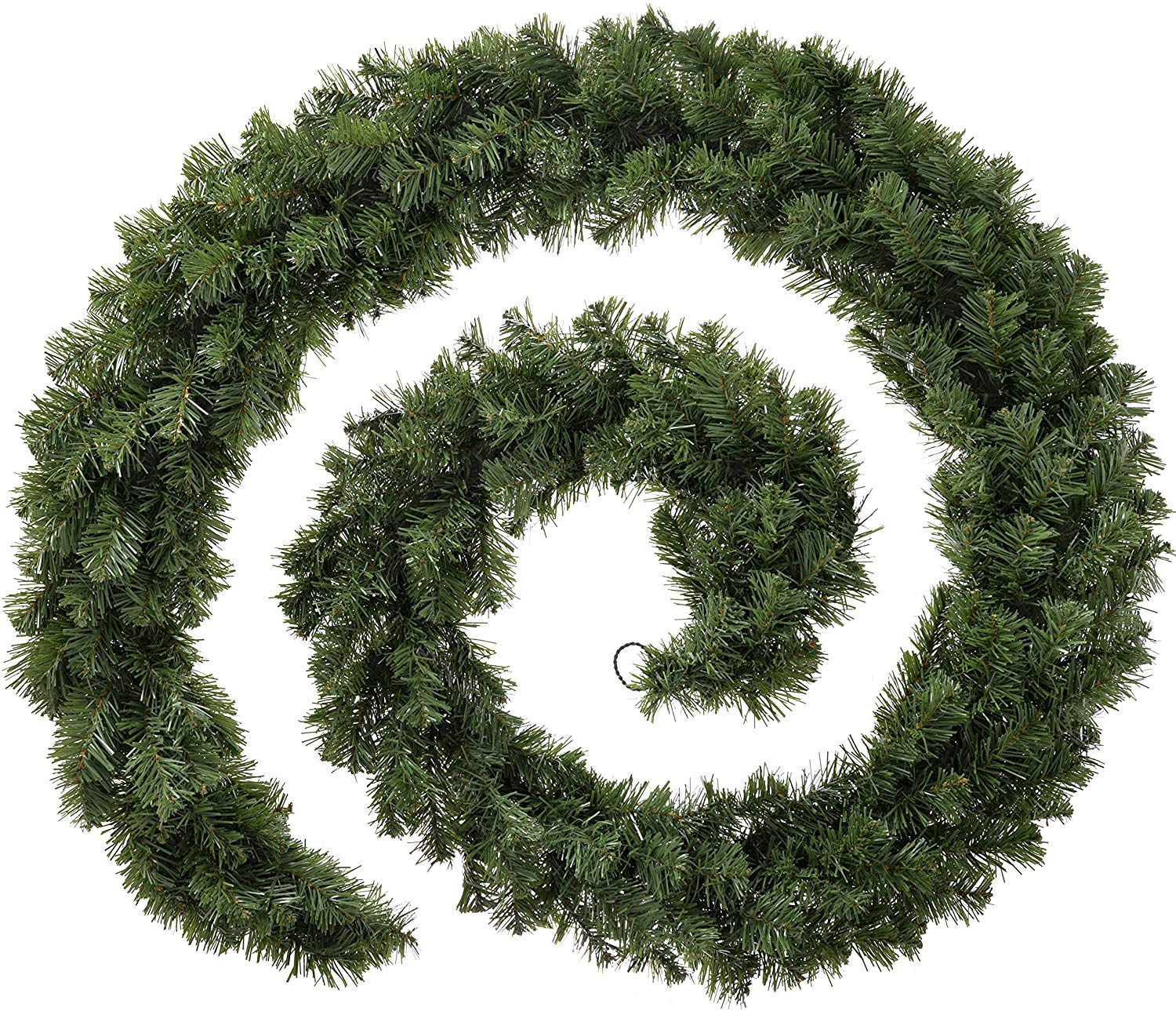 Extra Thick Pine Garland Christmas Decoration, Green, 9 feet