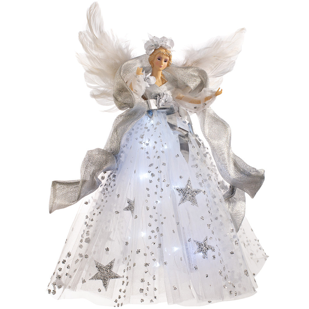 Pre-Lit Christmas Angel Tree Topper 43 cm