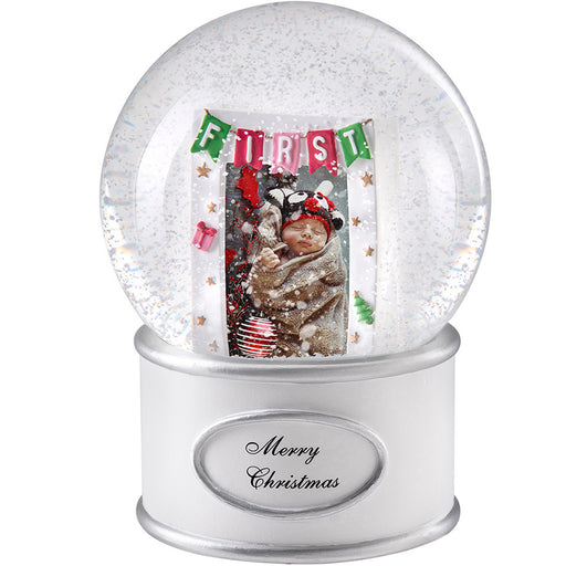 My First Christmas Musical Snowglobe Decoration 16 cm