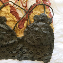 Load image into Gallery viewer, Rust Lace Bralette Bra