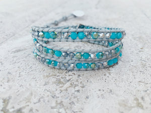 Cloudy days Wrap bracelet