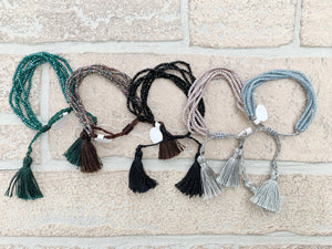 Beaded Bracelets with tassels
