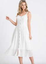 Load image into Gallery viewer, White Eyelit dress