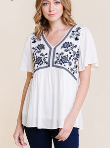 Betty Embroidery top