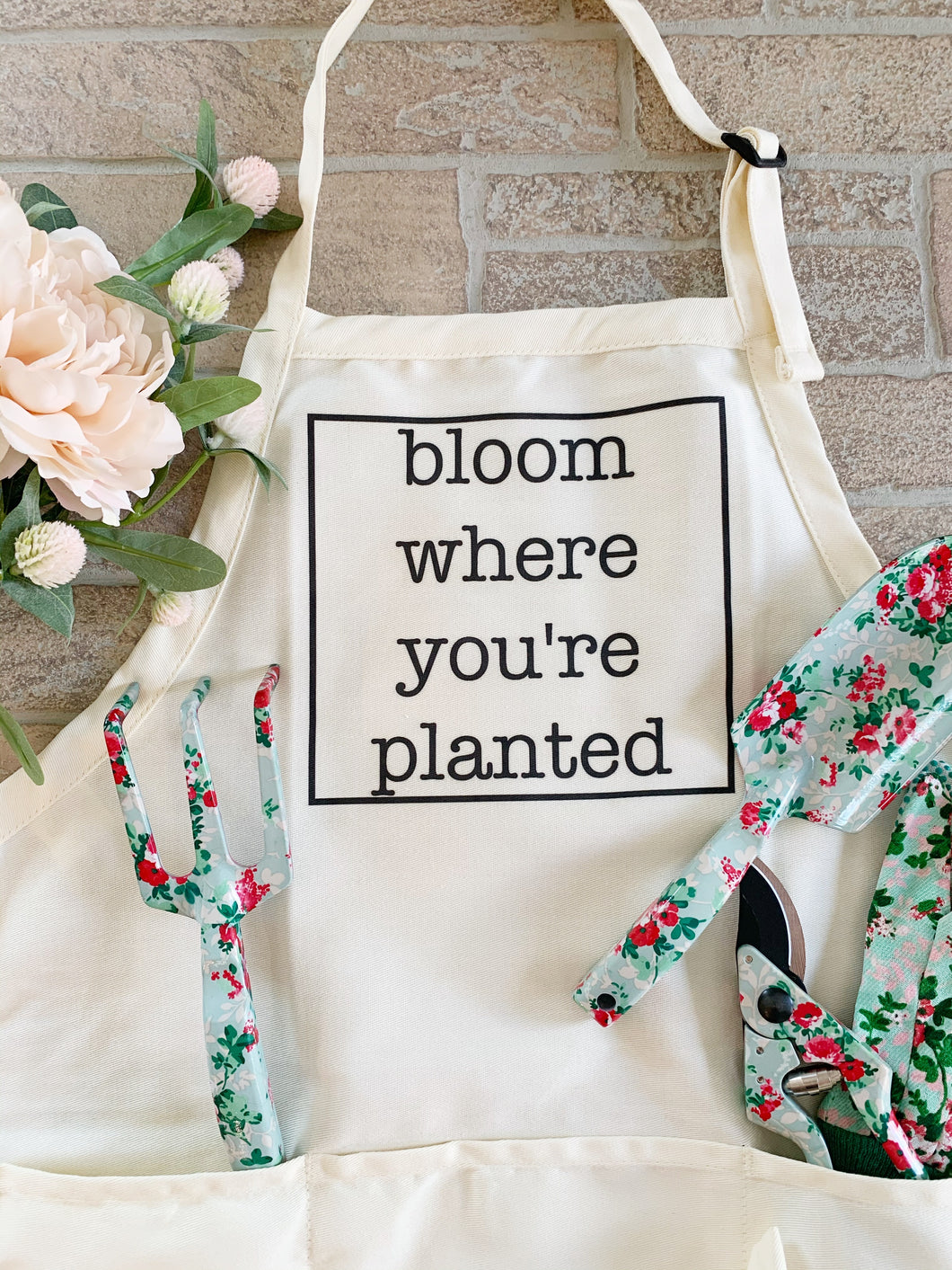 Bloom where you're planted apron