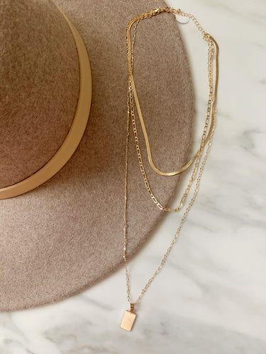 Simply layered trio necklace