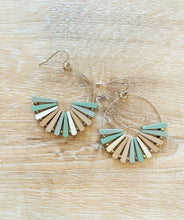 Load image into Gallery viewer, Wooden Pinwheel Earrings