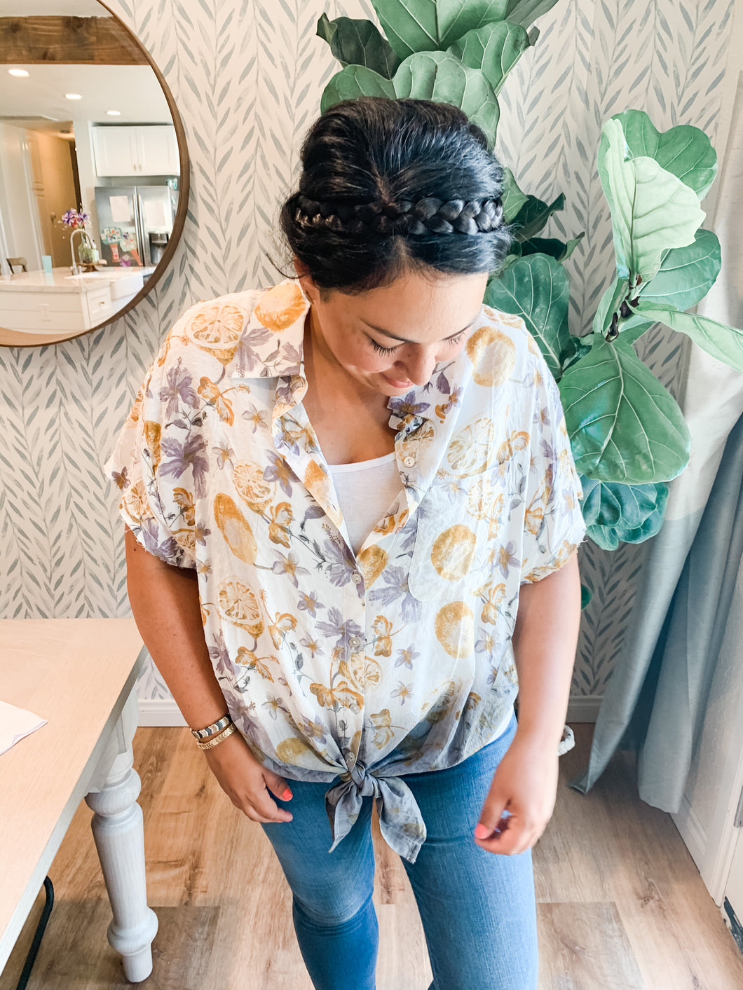 Lavender Lemonade Button up blouse