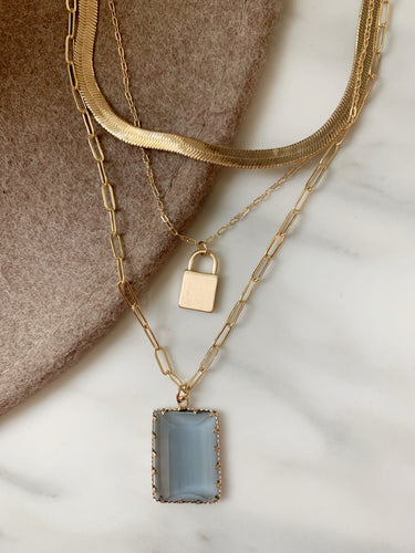 Charlotte trio layered necklace