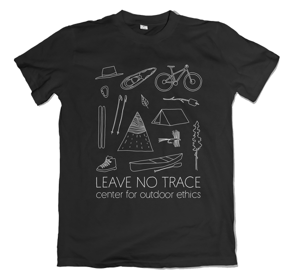 Black & White Leave No Trace T-Shirt