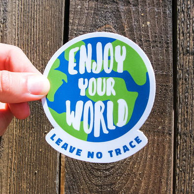 Enjoy Your World Sticker