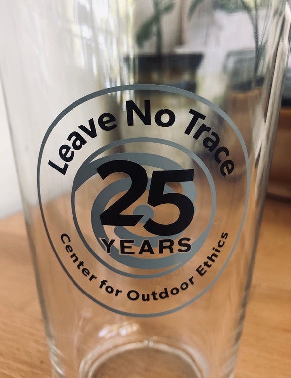 Leave No Trace 25th Anniversary Pint Glass