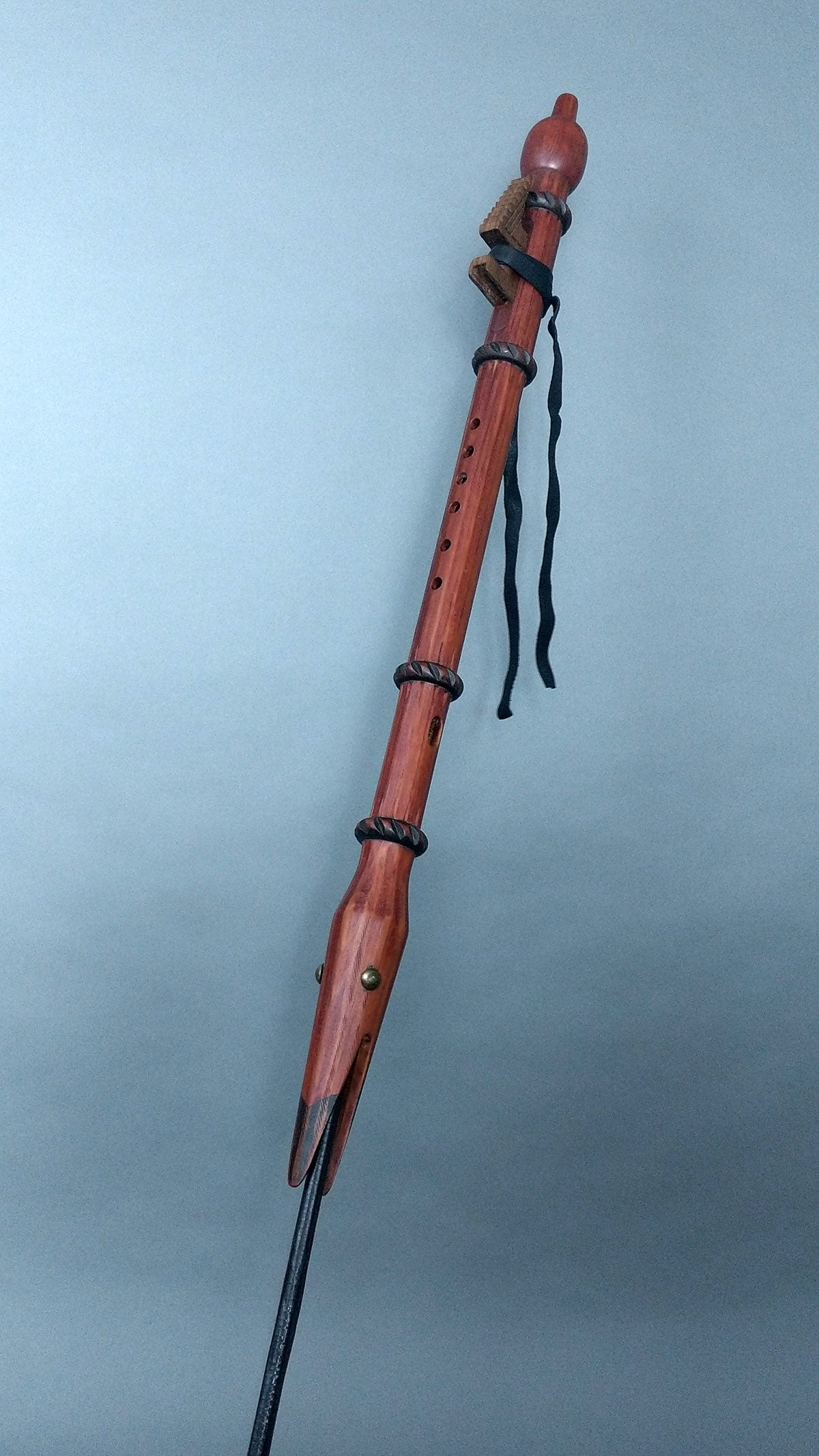 Mid B4 Eastern Red Cedar Bird Head Flute (BH203)