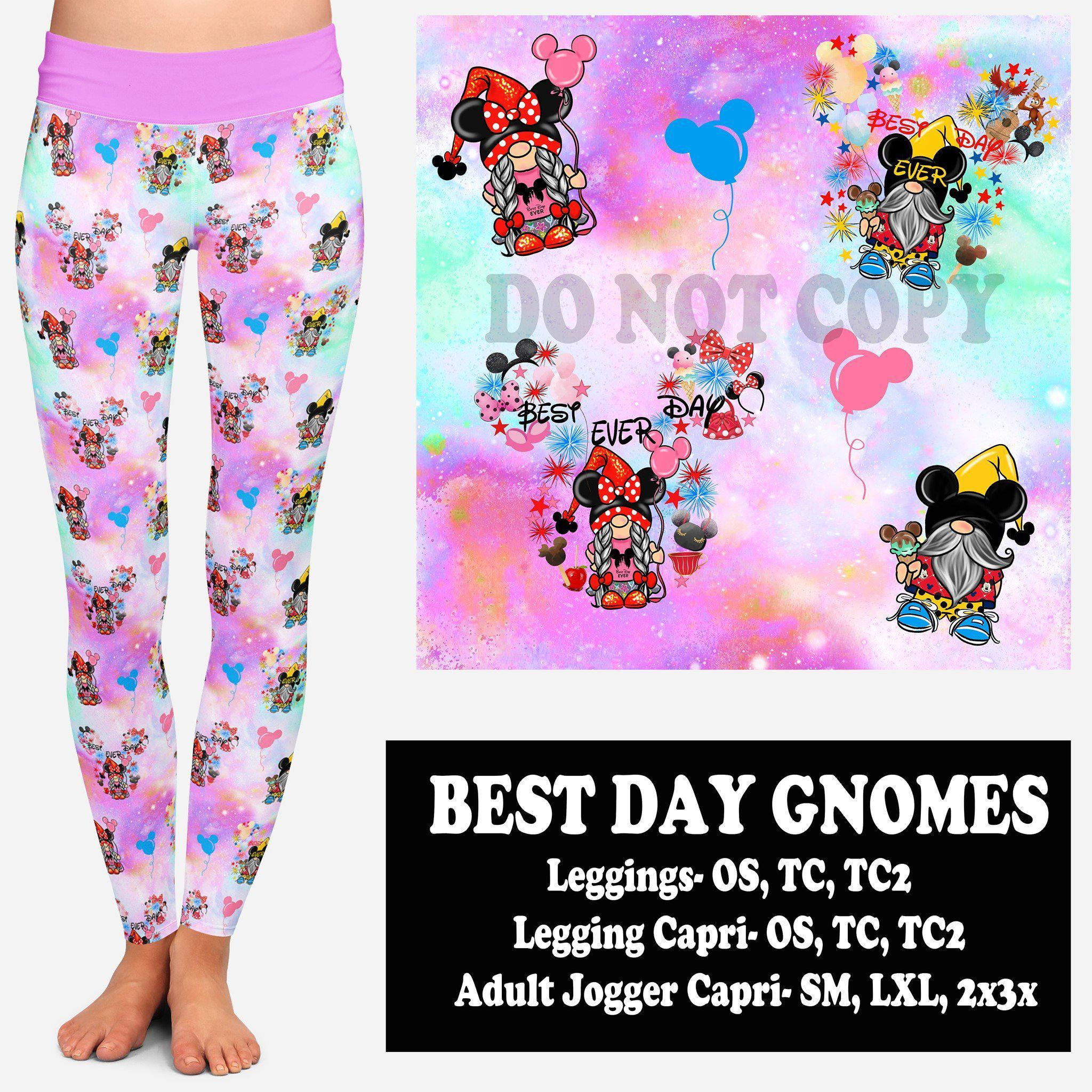 BEST DAY GNOMES (LEGGINGS, CAPRI, JOGGER CAPRI)