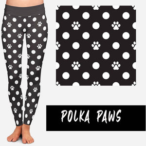 POLKA PAWS LEGGINGS AND JOGGERS