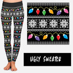 UGLY SWEATER LEGGINGS AND JOGGERS