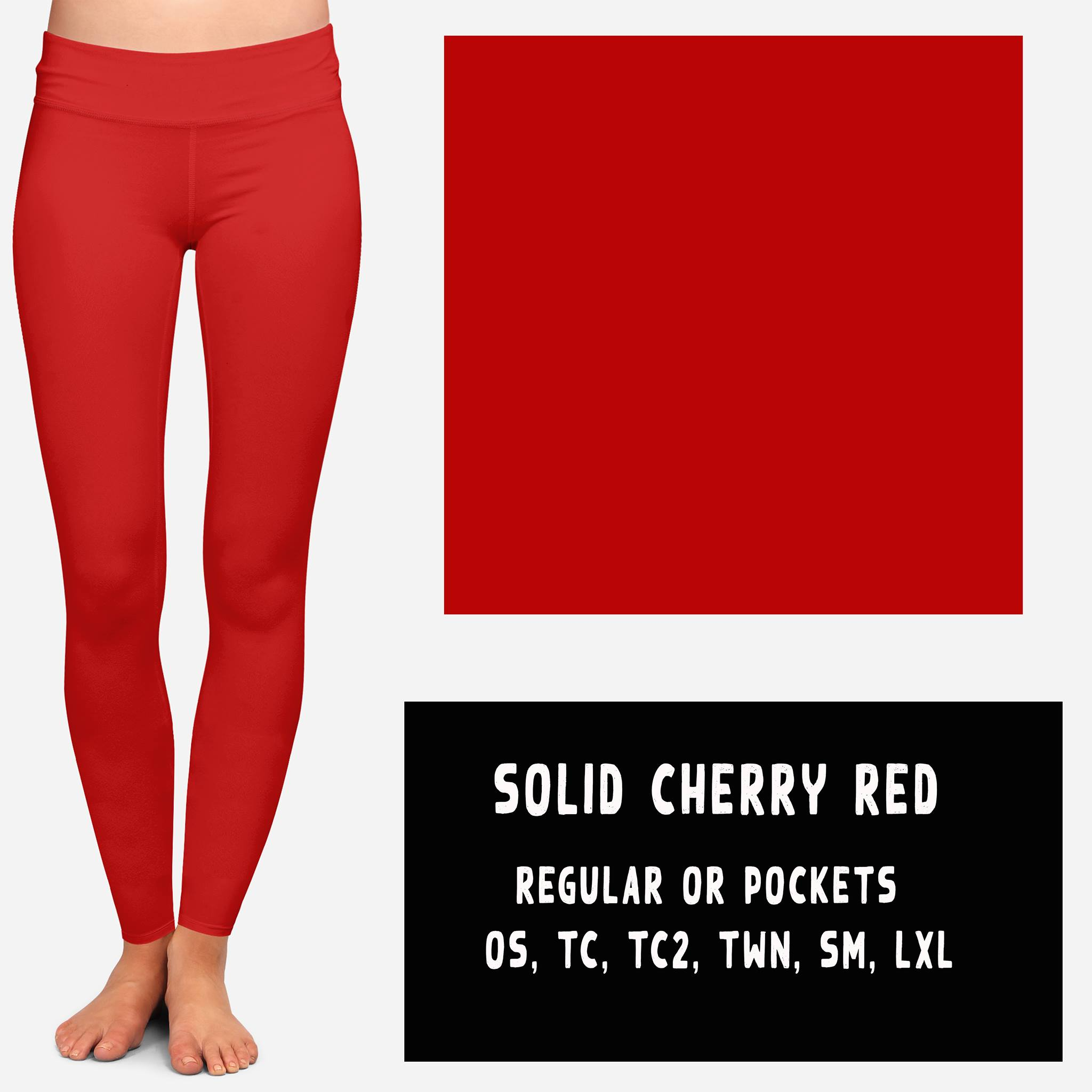 SOLID CHERRY RED LEGGING