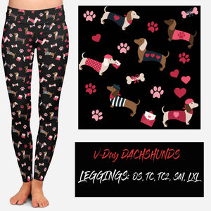 VDAY BATCH-VDAY DACHSHUNDS LEGGINGS AND JOGGERS