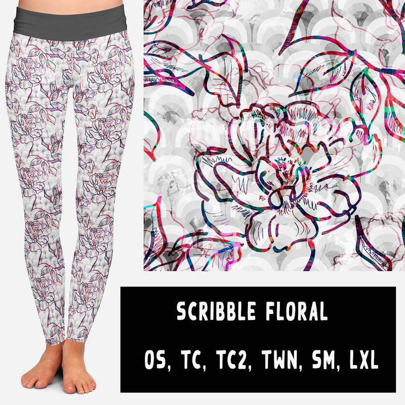 VDAY BATCH-SCRIBBLE FLORAL LEGGINGS AND JOGGERS