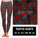 VDAY BATCH-PAINTED HEARTS LEGGINGS AND JOGGERS