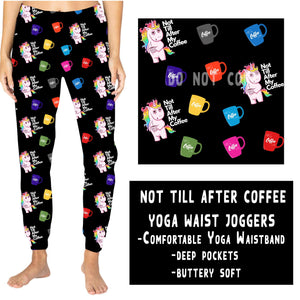 YOGA WAIST JOGGER- NOT TILL AFTER COFFEE