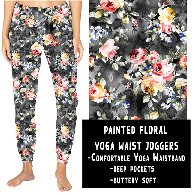 YOGA WAIST JOGGER- PAINTED FLORAL