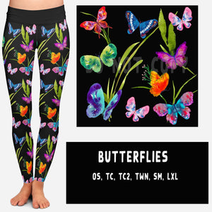 BUTTERFLIES LEGGINGS AND JOGGERS