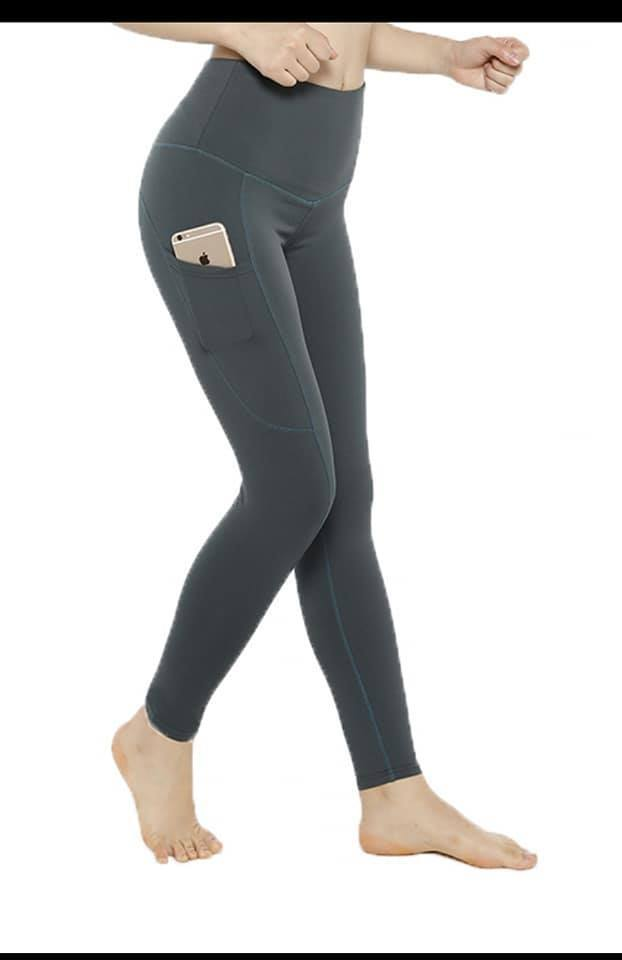 SOLID CHARCOAL COMPRESSION LEGGINGS