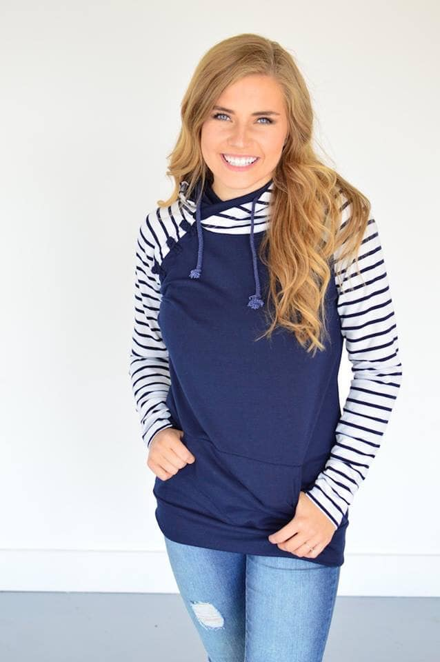 Navy Raglan Hoodie [High Stretch]