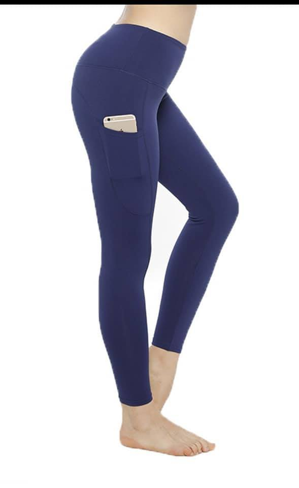 SOLID NAVY COMPRESSION LEGGINGS