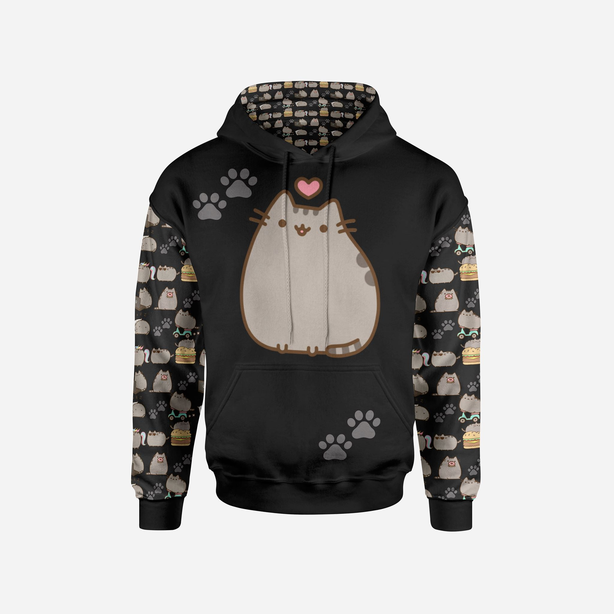 CHUBBY KITTY PULL OVER HOODIE