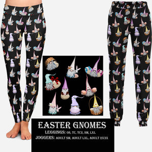 EASTER RUN- EASTER GNOMES LEGGINGS AND JOGGERS