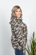 Camo and Stripes Half Zip Hoodie