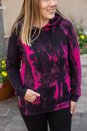 IN STOCK Zoey Hoodie - Black and Pink