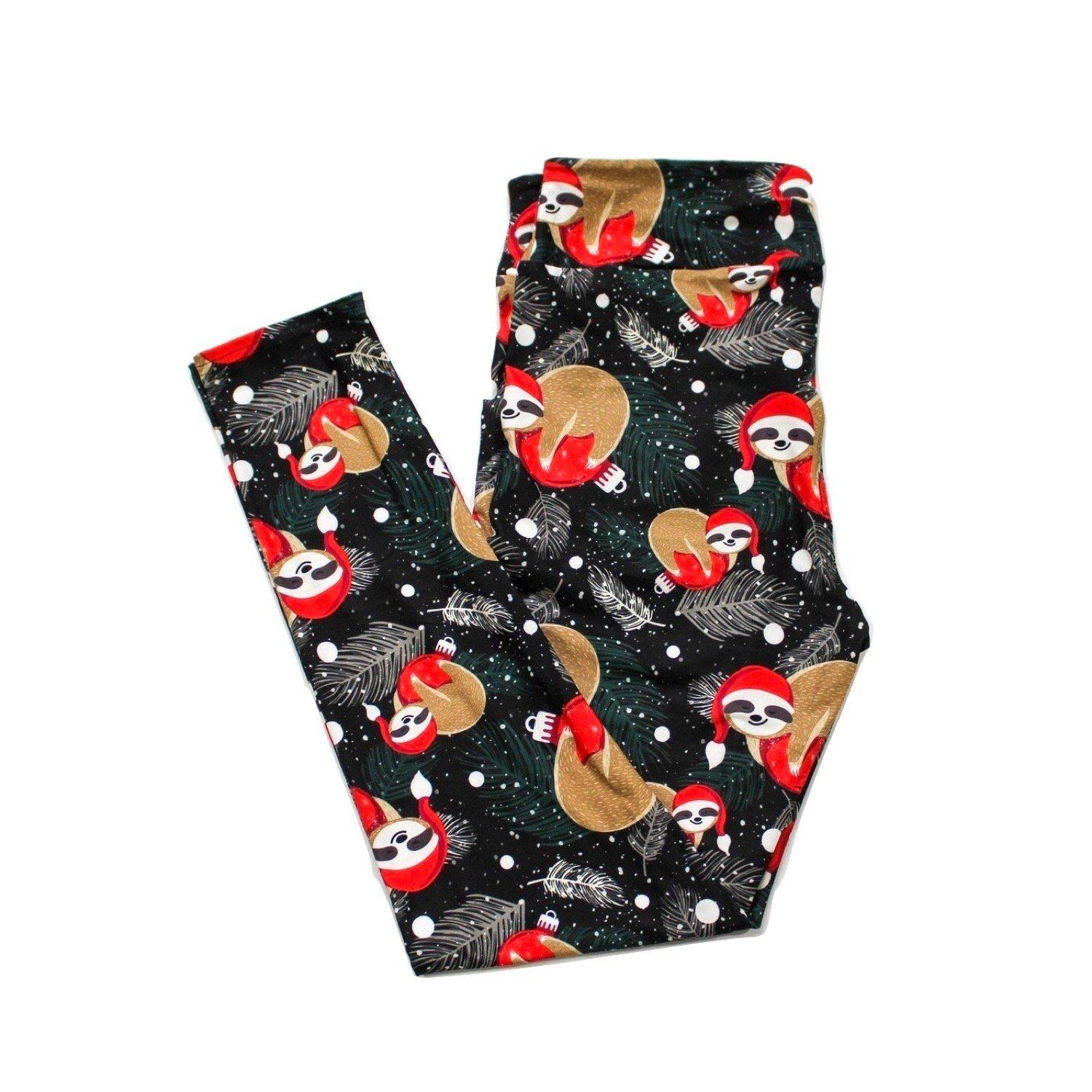 Santa Hat Sloths full length legging NO pockets