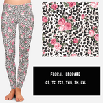 FLORAL LEOPARD LEGGINGS