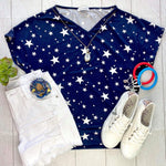 IN STOCK Cassie Dolman - Navy Stars