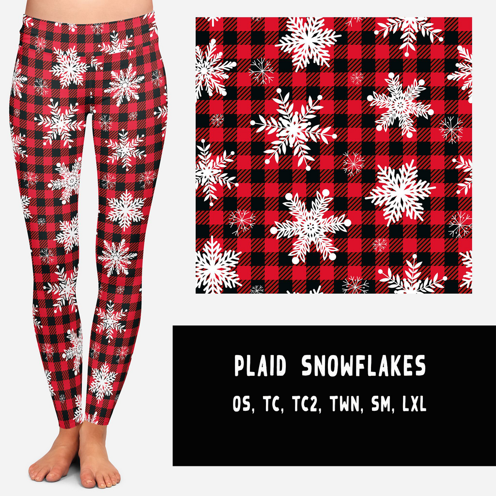 PLAID SNOWFLAKES LEGGINGS AND JOGGERS